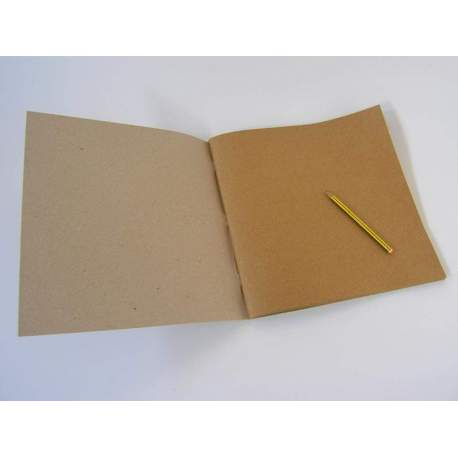 Carnet Kraft brun clair 220 gr - 32x32 48 pages