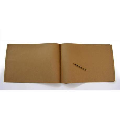 Carnet Kraft brun clair 220 gr - 32x48 48 pages