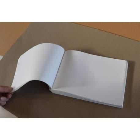 Bloc voyage papier blanc cassé 160 gr - 30x21 (paysage)