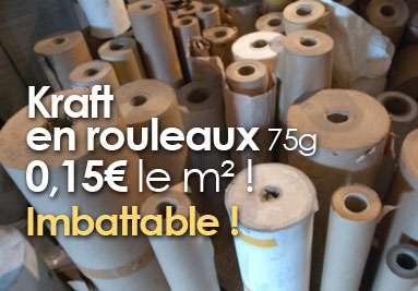 Kraft en rouleaux 75g 0,15€ le m² ! Imbattable !